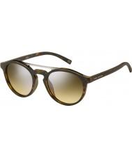 Marc Jacobs Marc 107-s n9p gg matte havana zilveren spiegel zonnebril