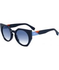 Fendi Dames facetten ff 0151-s pjp u3 zonnebril