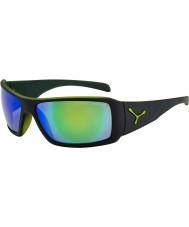 Cebe Utopie mat zwart groene zonnebril