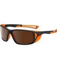Cebe ProGuide mat zwart oranje 2000 bruin flash mirror zonnebril