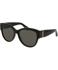 Saint Laurent Ladies sl m3 002 55 zonnebrillen