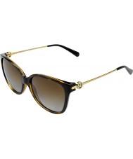 Michael Kors Mk6006 57 marrakesh donkere schildpad 3006t5 gepolariseerde zonnebril