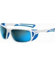 Cebe ProGuide glanzend wit blauw 4000 grijze minerale blauwe zonnebril