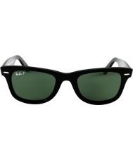 RayBan Rb2140 originele wayfarer zwart-groen gepolariseerd