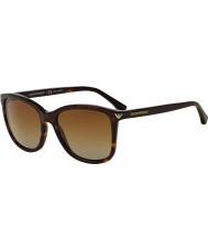 Emporio Armani Ea4060 56 essentiële leisure havana 5026t5 gepolariseerde zonnebril