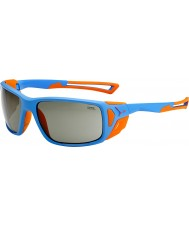 Cebe ProGuide mat blauw oranje variochrom piek zonnebril