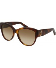 Saint Laurent Ladies sl m3 005 55 sunglasses