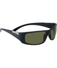 Serengeti Fasano glanzend satijn zwarte gepolariseerde phd 555nm zonnebril