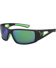 Cebe Session zwart groen 1500 grijze spiegel groene zonnebril