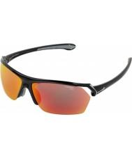 Cebe Wilde glanzende zwarte zonnebril multilayer