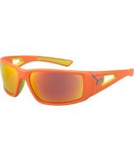 Cebe Session oranje lime 1500 grijze spiegel oranje zonnebril