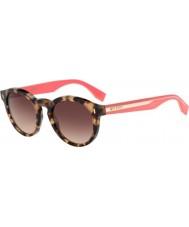 Fendi Colour block ff 0085-s HK3 d8 havana roze zonnebril