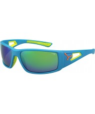 Cebe Session blauw oranje 1500 grijze spiegel groene zonnebril