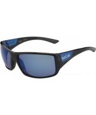 Bolle Australische Tijgerslang glanzende zwarte matte blauw gepolariseerde offshore-blauwe zonnebril