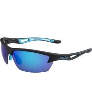 Bolle Bolt mat zwart blauwe zonnebril