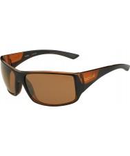 Bolle Australische Tijgerslang glanzende zwarte matte bruine gepolariseerde zandsteen gun zonnebril