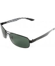 RayBan Rb8316 62 tech carbon fiber zwart groen 002-N5 gepolariseerde zonnebril