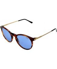 Polo Ralph Lauren Ph4096 50 klassieke flair gestreept havana 500.772 zonnebrillen