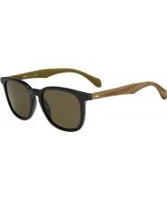 HUGO BOSS Mens boss 0843-s rbg ec zwart bruine zonnebril
