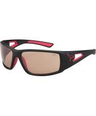 Cebe Session mat zwart rood variochrom Perfo zonnebril