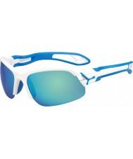 Cebe Cbspring3 s-pring witte blauwe zonnebril