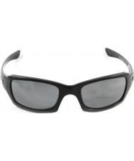 Oakley Oo9238-06 fives squared glanzend zwart - black iridium gepolariseerde zonnebril