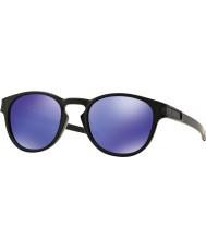 Oakley Oo9265-06 klink matzwart - violet iridium zonnebril
