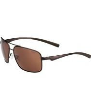 Bolle Brisbane matte bruine gepolariseerde a-14 zonnebril