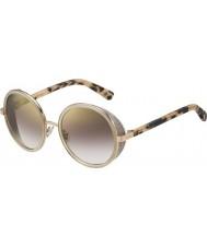 Jimmy Choo Ladies andie-s j7a nh goud naakt havana gouden spiegel zonnebril