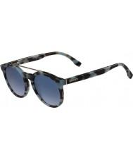 Lacoste L821s azuurblauwe havana zonnebril