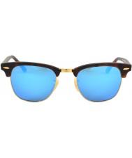 RayBan Rb3016 clubmaster zand schildpad - blauwe spiegel
