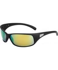 Bolle Terugslag mat zwart gepolariseerde bruin emerald zonnebril
