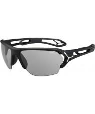 Cebe S-spoor grote mat zwart variochrom Perfo zonnebril