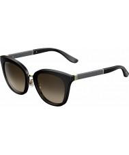 Jimmy Choo Ladies Fabry-s FA3 J6 zwarte glitter zonnebril
