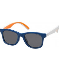 Polaroid Kids pld8001-s t20 y2 blauwe gepolariseerde zonnebril