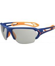 Cebe S-spoor grote mat blauw oranje variochrom Perfo zonnebril