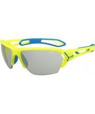 Cebe S-spoor grote pro neon gele variochrom Perfo zonnebril