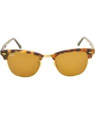 RayBan RB3016 51 clubmaster gespot bruin havana 1160 zonnebril