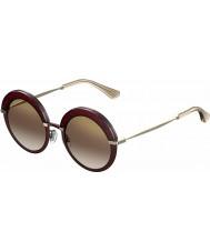 Jimmy Choo Ladies gotha-s 65L QH bordeaux gouden spiegel zonnebril