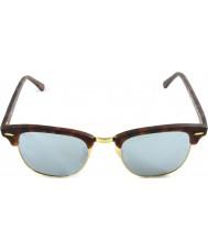 RayBan RB3016 51 clubmaster zand schildpad-goud 114.530 zilveren spiegel zonnebril