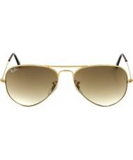 RayBan RB3025 58 aviator grote metalen goud 001-51 zonnebril