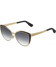 Jimmy Choo Ladies domi-s psu 9c goud zwarte zonnebril