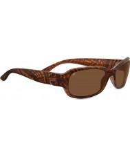 Serengeti Chloe glanzende honing streep schildpad gepolariseerde drivers zonnebril