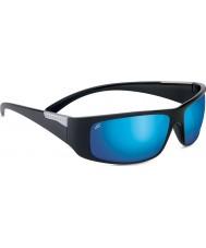 Serengeti Fasano glanzende zwarte gepolariseerde phd 555nm blauwe spiegel zonnebril
