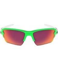 Oakley Oo9188-43 flak 2,0 xl groen fade - prizm veld zonnebril