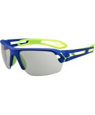 Cebe S-spoor medium donkerblauw groen variochrom Perfo zonnebril