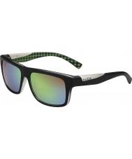 Bolle Clint mat zwart lime gepolariseerde bruin smaragd zonnebril