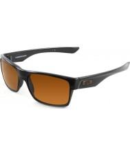Oakley Oo9189-03 Two-Face gepolijst zwart - donker brons zonnebril