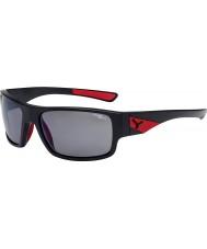 Cebe Whisper mat zwart rood 1500 grijs gepolariseerde flash mirror zonnebril