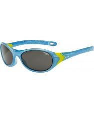 Cebe Cricket (leeftijd 3-5) helderblauw lime zonnebril